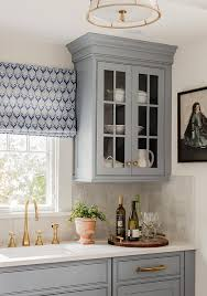 blue gray kitchen cabinets gray blue kitchen cabinets with gray backsplash tiles transitional