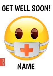 get well soon cards emoji get well soon card aid funky pigeon