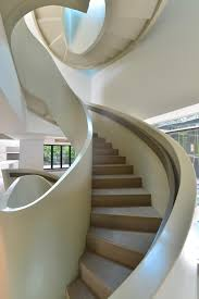 interior outdoor modern architecture white marble stairs idea