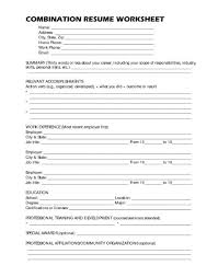 resume worksheets free worksheets library download and print