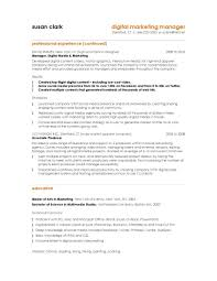Sample Resume Objectives For Management by Charming 10 Marketing Resume Samples Hiring Managers Will Notice
