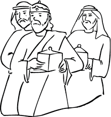Wise Men With Gifts In Their Hands Coloring Page Free Printable Wise Worship Coloring Page