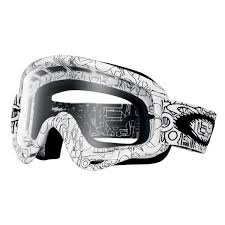 oakley motocross goggles oakley o frame mx goggles white factory text clear free delivery