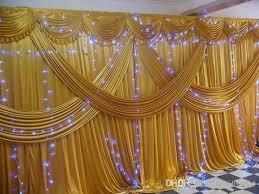 wedding backdrop fabric cheap luxury 3m 6m 10ft 20ft silk fabric satin drape curtain