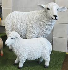 large sheep garden ornament statue patio outdoor animal