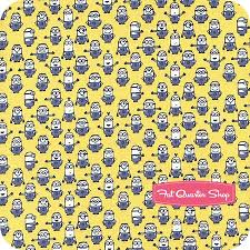 minion wrapping paper 1 in a minion yellow graphic set minions yardage sku 23992 s