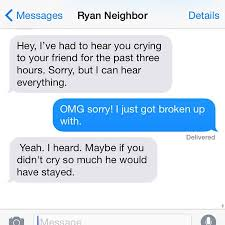 Text Messages Show Horror Inside - text messages from the neighbours from hell will really shock you