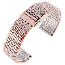 bracelet rose metal images Fashion rose gold silver 20mm 22mm width stainless steel jpg