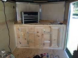 v nose enclosed trailer cabinets v nose trailer cabinet project s pinterest cargo trailers