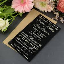 acrylic wedding invitations 50x personalised favours acrylic wedding invitations 11b black