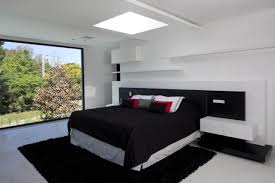 white and black bedroom tjihome