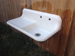 vintage cast iron sink drainboard antique early crane 42 vintage cast iron farmhouse farm sink
