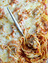 baked spaghetti meatballs wonkywonderful
