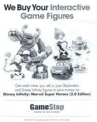 Gamestop Sales Associate Gamestop Is Now Accepting Disney Infinity Figure Trade Ins