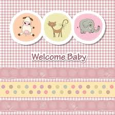 baby shower card with funny animals royalty free cliparts vectors