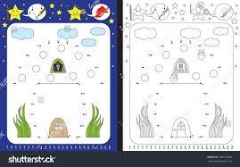 preschool worksheet practicing fine motor skills stock vector