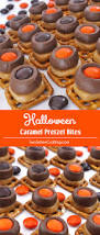 halloween caramel pretzel bites two sisters crafting