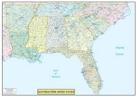 us map by states and cities southeastern united states executive city county wall map