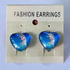 kids clip on earrings buy 390 fashion frozen elsa princess kids clip earrings