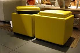 Yellow Ottoman Storage Yellow Leather Storage Ottoman Bonners Furniture