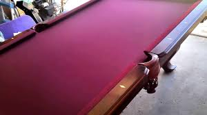 Wood Pool Table 7 U0027 Cherry Solid Wood Billiard Table Youtube