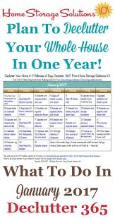 printable calendar home organization january declutter calendar 15 minute daily missions for month