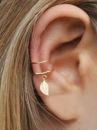 wrap cuff leaf ear cuff ear cuff piercing no