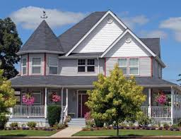 victorian house style country home designs dark grey roof two stories house victorian
