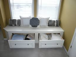 White Bench With Storage Incredible And Unique Combination Window Seat Bench Bedroomi Net