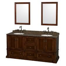 rochester 72 inch double bathroom vanity in cherry baltic brown