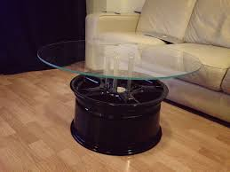 furniture chrome v12 engine block coffee table with rectangle
