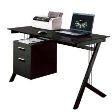 nice black tempered glass computer desk etremely hard wearing and