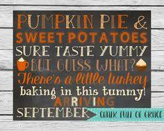 thanksgiving pregnancy announcement chalkboard printable file