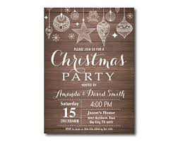 Christmas Ornament Party Invitations - ornament exchange invitation etsy
