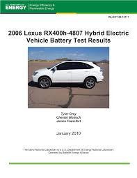 lexus hybrid battery service 2006 lexus rx400h 4807 hybrid electric vehicle battery test