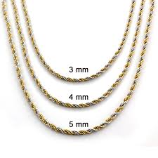 gold plated chain necklace images Goldplated stainless steel twist rope chain necklace free jpg
