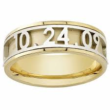 day rings personalized 18k yellow gold name personalized band 6mm 3003519 shop at