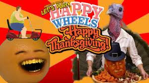 annoying orange happy thanksgiving wheels