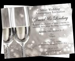 personalised silver wedding anniversary invitations design code