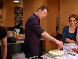 caramelized banana cream pie with hazelnut whipped cream and