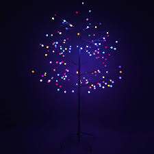 6ft pre lit 168 colour changing multi flash led berry tree indoor