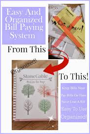 easy and organized bill paying system stonegable
