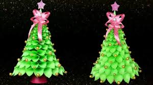 xmas tree on table how to make table top christmas tree from paper youtube