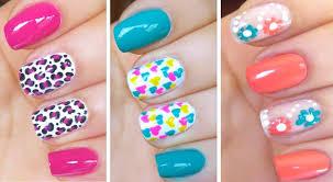nail art designs step by step at home for short nails