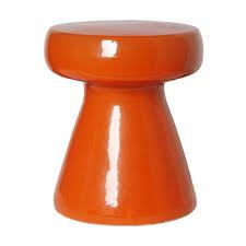 Orange Side Table Stools Side Tables
