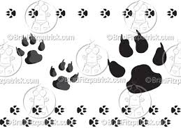 dog paw footprints tattoo design clip art library