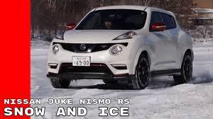 juke nismo lowered driving 2017 nissan juke nismo rs on snow and ice youtube