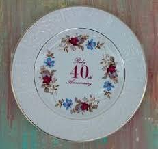 40th anniversary plates anniversary plate vesela anniversaries happy