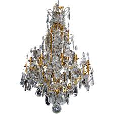 Bronze And Crystal Chandeliers 7170 19th Century Baccarat Crystal Chandelier With Bronze Frame