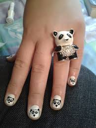 always trust the gene genie panda nail art